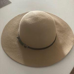 Camel wool felt wide brim hat - hat attack